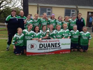 Kiltullagh Killimordaly Camogie U14 County Final Winners