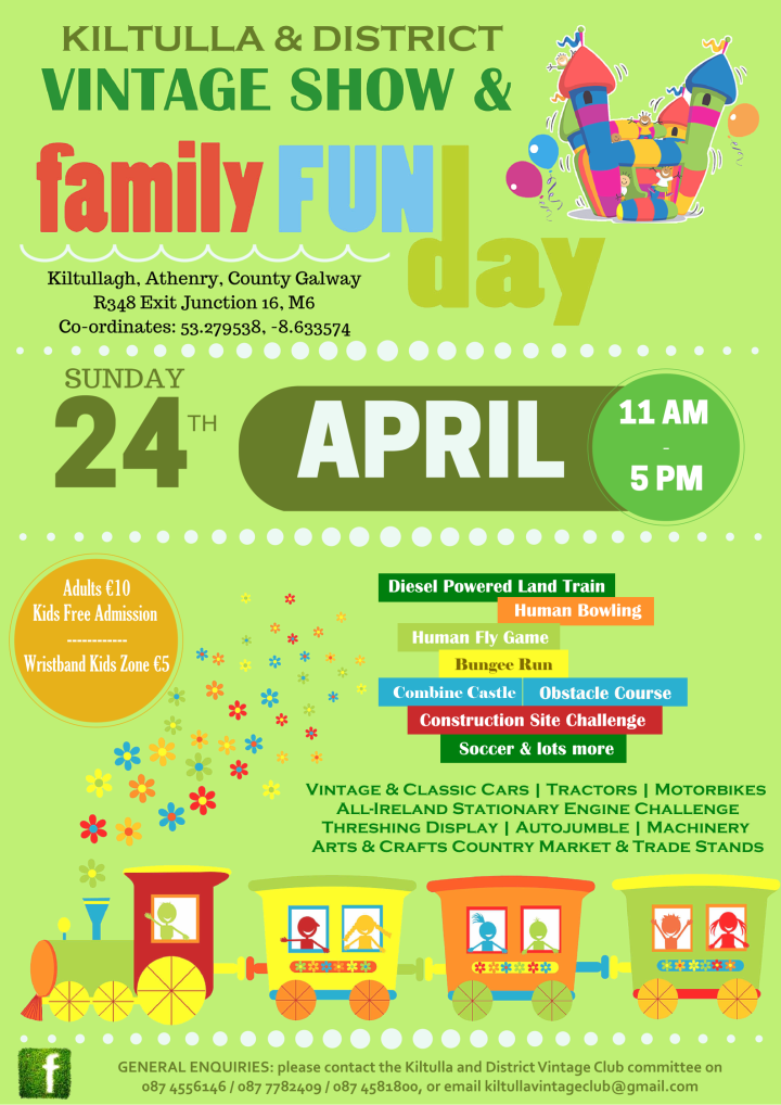 Kiltulla and District Vintage Show and Family Fun Day