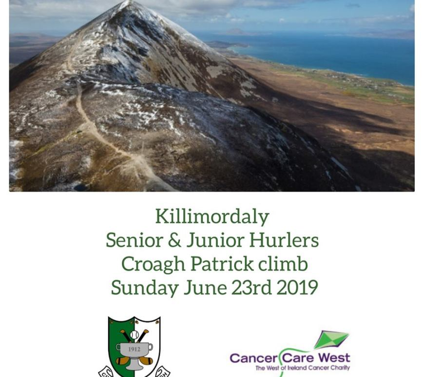Killimordaly Hurlers to climb Croagh Patrick in aid of Cancer Care West